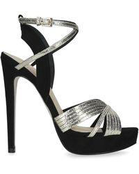 KG by Kurt Geiger Sammy Faux-leather Metallic Strap Sandals