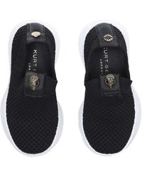 Kurt Geiger Kids Eagle Embellished Slip On Sock Trainers Ages 2-7 - Black