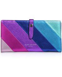 Kurt Geiger Leather Soft Wallet - Purple