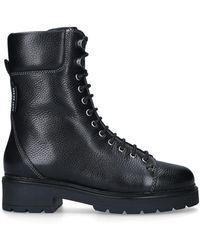 Kurt Geiger Leather Biker Boots - Black