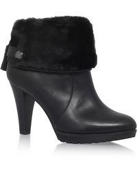 Anne Klein Teamy Black Ankle Boots