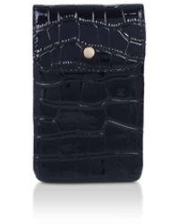 Carvela Kurt Geiger Croc Phone Case - Black