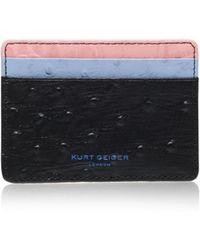 Kurt Geiger | Ostrich Card Holder In Black Other | Lyst