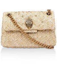 Kurt Geiger Raffia Mini Kensington Purse Evening Bags Camel - Multicolour