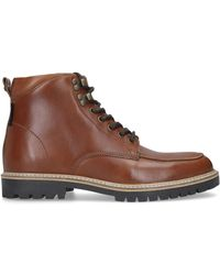 Kurt Geiger Charlie Lace-up Leather Ankle Boots - Brown