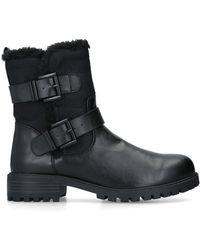 KG by Kurt Geiger Faux Fur Lined Biker Boots - Black