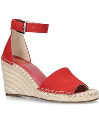 Vince Camuto - Red 'leera' High Wedge Sandals - Lyst