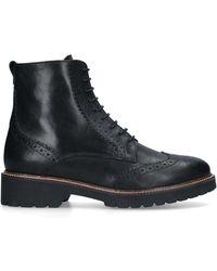 Carvela Kurt Geiger Snail Ankle Boots Black 40 Mm Heel