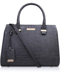 Carvela Kurt Geiger - Holly Croc Zip Bag In Grey - Lyst