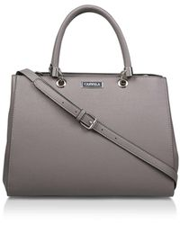 Carvela Kurt Geiger Dory Structured Tote - Gray