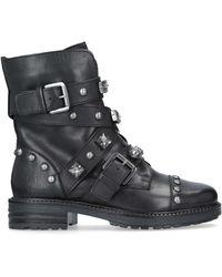 Carvela Kurt Geiger Sander Leather Stud Embellished Boots - Black