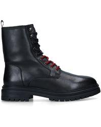 KG by Kurt Geiger Leather Lace Up Boots - Black