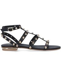 KG by Kurt Geiger Studded Flat Sandals - Black