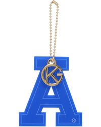 Kurt Geiger - Letter A Charm In Blue - Lyst