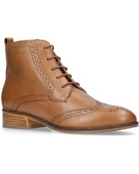 Carvela Kurt Geiger - Toby Low Heel Brogue Boots - Lyst