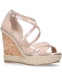 Carvela Kurt Geiger - Nude 'sublime' High Heel Wedge Sandals - Lyst