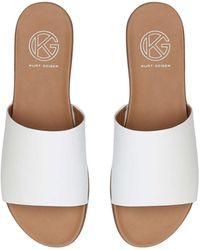 KG by Kurt Geiger Flat Slip On Sandals - White