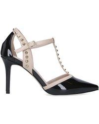 Carvela Kurt Geiger Patent Studded Court Shoes - Black
