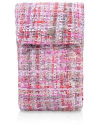 Carvela Kurt Geiger Tweed Phone Case - Pink