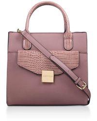 Carvela Kurt Geiger Fame Pocket Tote Handbags Pink Shoulder Tote