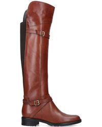 Carvela Kurt Geiger Leather High Leg Boots - Brown