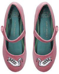 Kurt Geiger Pink Swan Ballerinas Ages 2-7