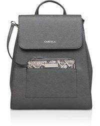 Carvela Kurt Geiger - Dark Backpack With Snake Print Purse - Lyst