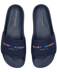Kurt Geiger Navy Pool Sliders - Blue