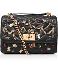 ALDO - Black 'aderran' Embellished Messenger Bag - Lyst