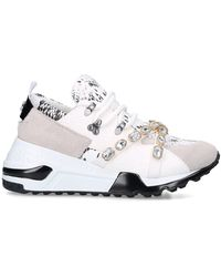 Steve Madden Credit Trainers White