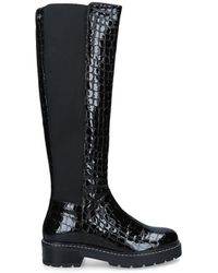 Carvela Kurt Geiger - Croc Knee High Boots - Lyst