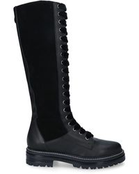 Carvela Kurt Geiger Leather High Leg Boots - Black