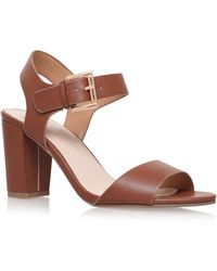 Carvela Kurt Geiger - Tan 'sadie' High Heel Sandals - Lyst