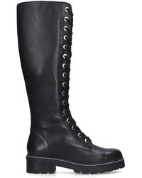 Carvela Kurt Geiger Lace Up High Leg Boots - Black