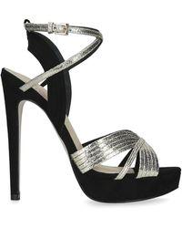 KG by Kurt Geiger Stiletto Heel Platform Sandals - Metallic