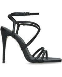 KG by Kurt Geiger Alexis Reptile-embosssed Faux-leather Sandals - Black
