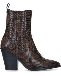 ALDO Drerissa Snakeskin-print Ankle Boots - Brown