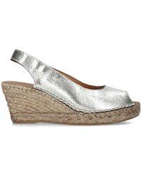 Carvela Kurt Geiger Gold Wedge Sandals - Metallic