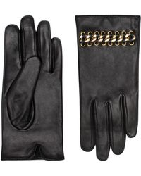 Kurt Geiger - Leather Chain Gloves - Lyst