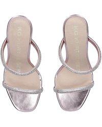 KG by Kurt Geiger Rose Gold Embellished Fluted Heel Sandals - Metallic