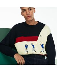 Lacoste - Fashion Show Crew Neck Embroidered Wool Knit Sweater - Lyst