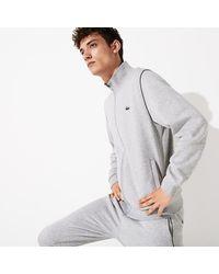 Lacoste Men's Sport Stand-up Neck Fleece Tracksuit - Gray