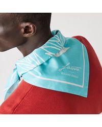 Lacoste Sport Roland Garros Edition Print Cotton Bandana - One Size - Blue