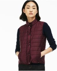 69cf2fc8 Lacoste French Sporting Spirit Edition Quilted Vest in Blue - Lyst