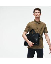 Lacoste L.12.12 Business Leather Computer Bag - Black