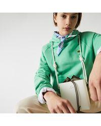 Lacoste Womens Chantaco Small Square Piqué Leather Bucket Bag - Multicolour