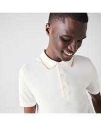 Lacoste - Men's Slim Fit Striped Collar Cotton Piqué Polo Shirt - Lyst