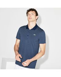 Lacoste - Sport Striped Technical Jersey Golf Polo - Lyst