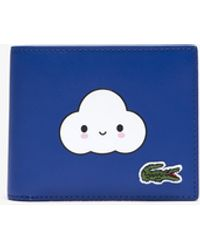 Lacoste X Friendswithyou Fun Printed Leather Wallet - One Size - Blue