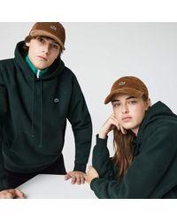 Lacoste Unisex Live Ribbed Velvet Cap - Brown
